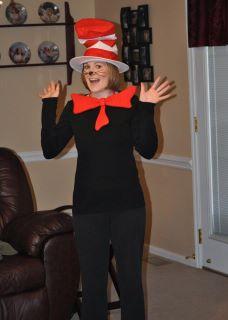 Amanda as Dr. Seuss -- Cat in the Hat