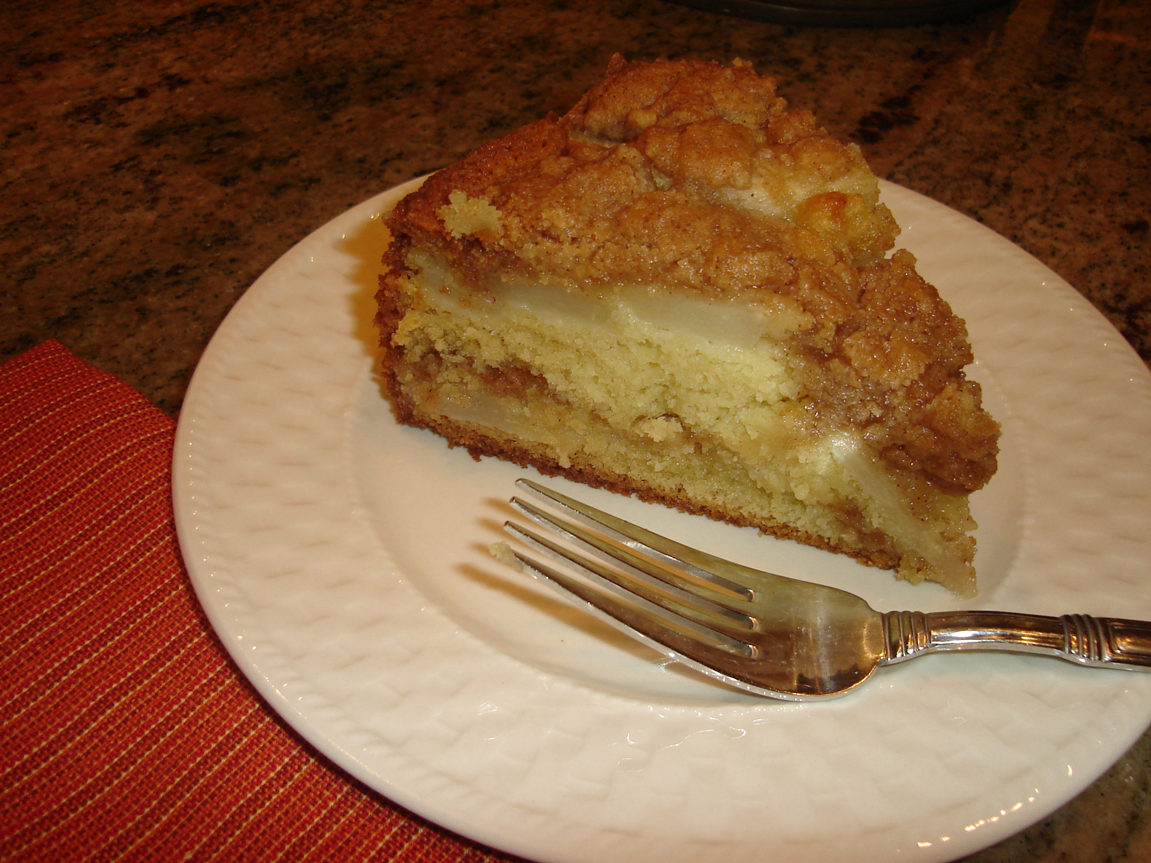 Spiced Pear and Plum Coffee Cake