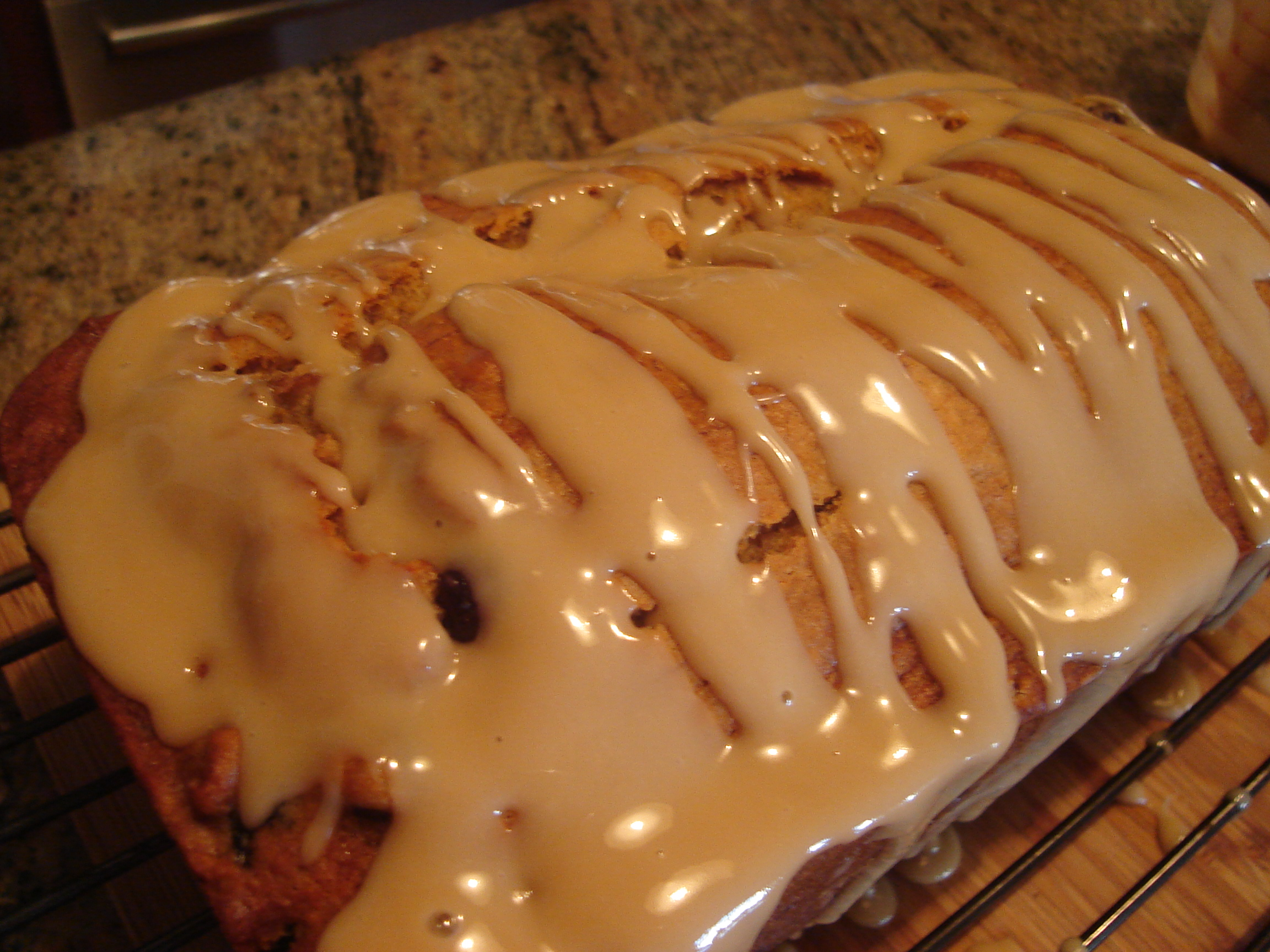 Maple Banana Blueberry Bread