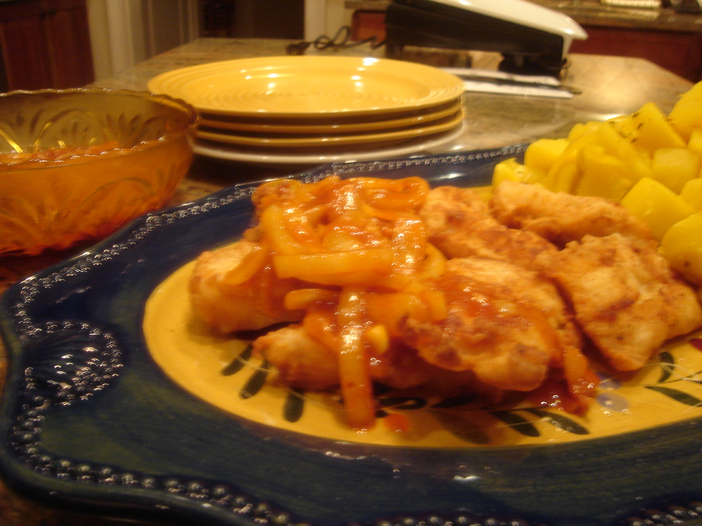 My Grandmother's Portuguese Pan Fried Fish with Red Gravy