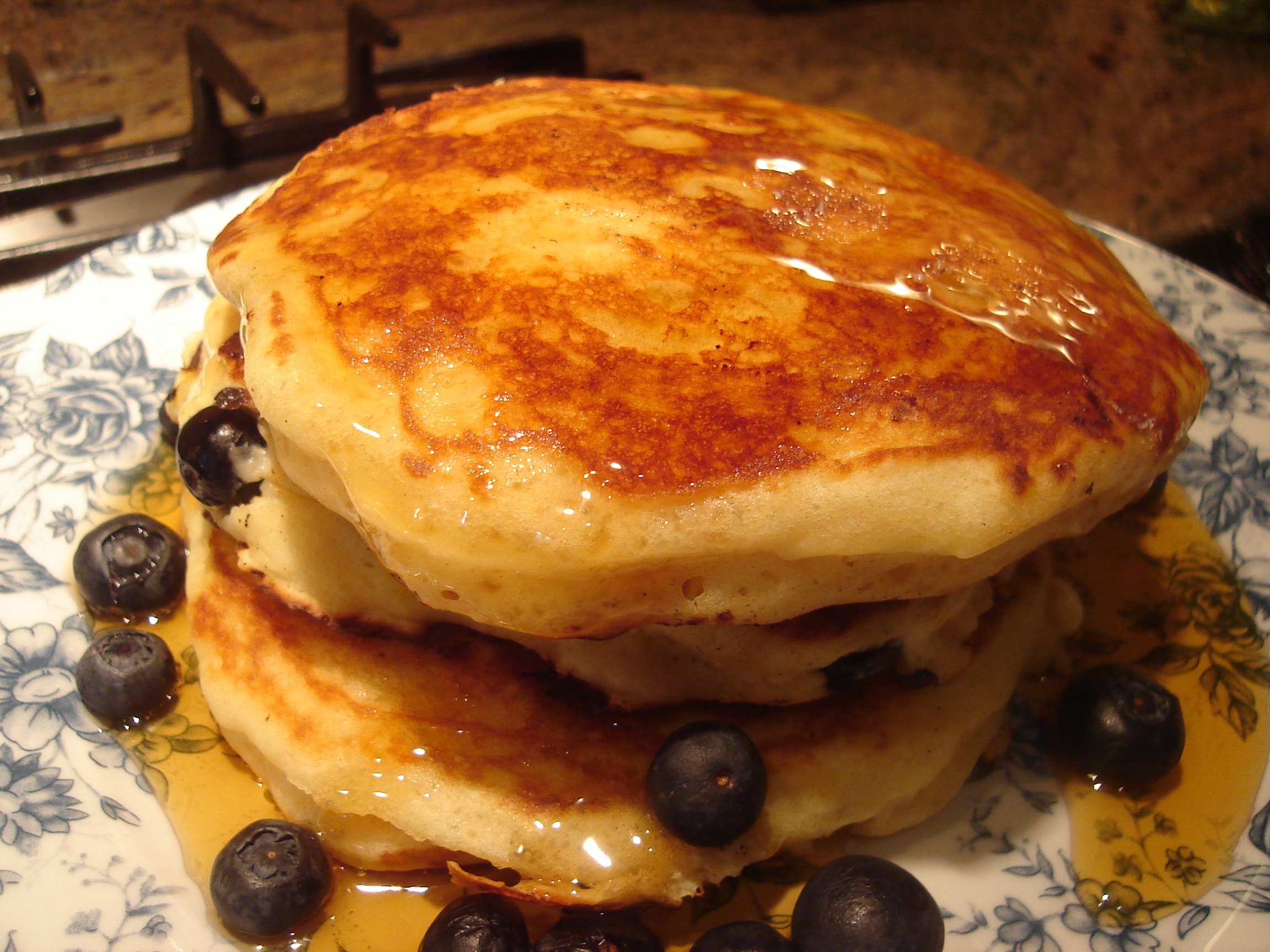 Blueberry Orange and White Chocolate Pancakes