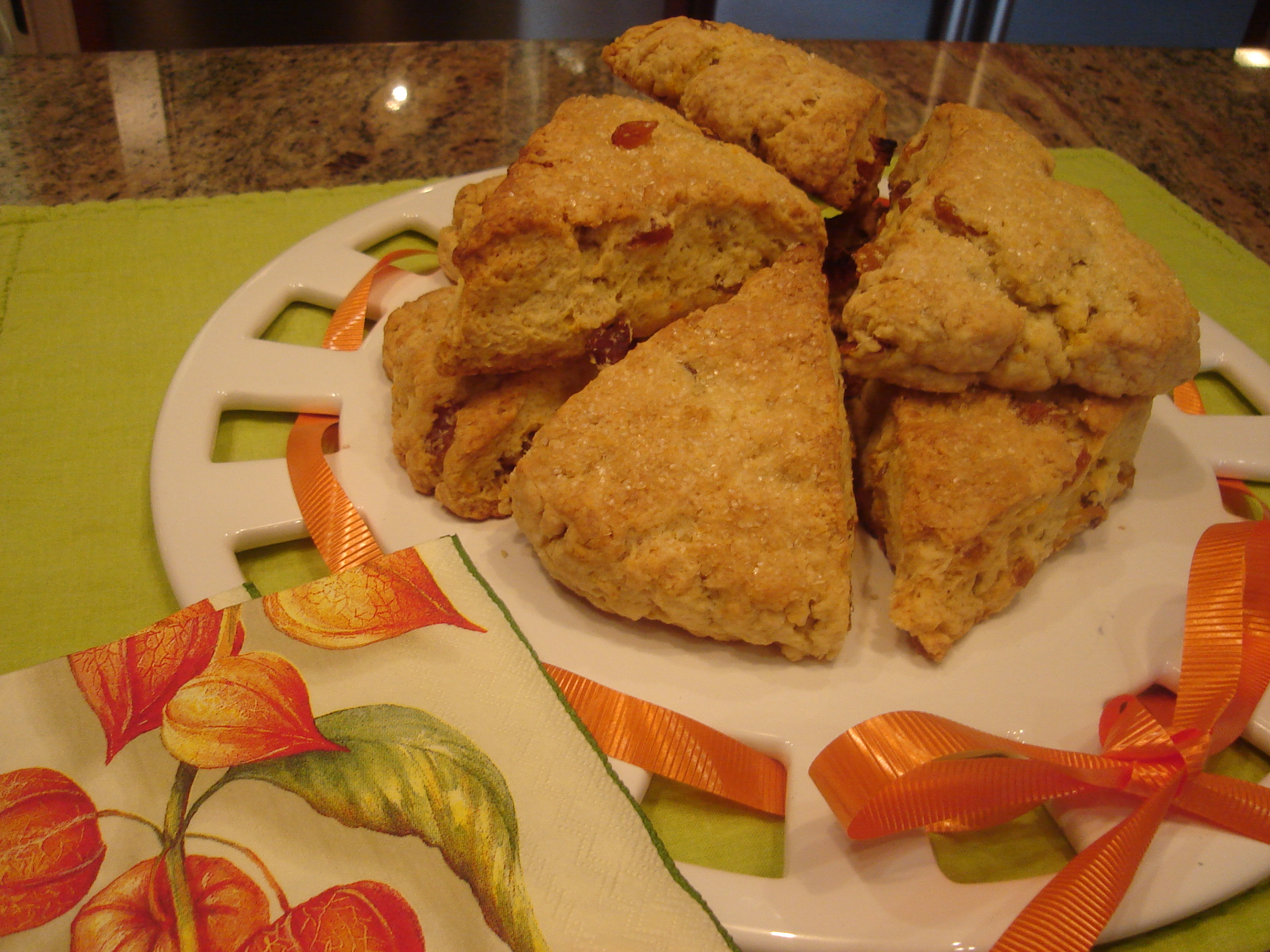 Scones with Golden Raisins II