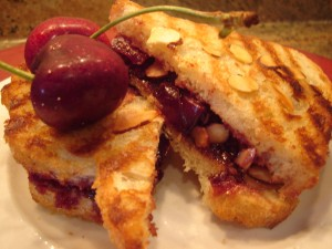 ... With Elise – Roasted Cherries with Lavender and Almond Panna Cotta