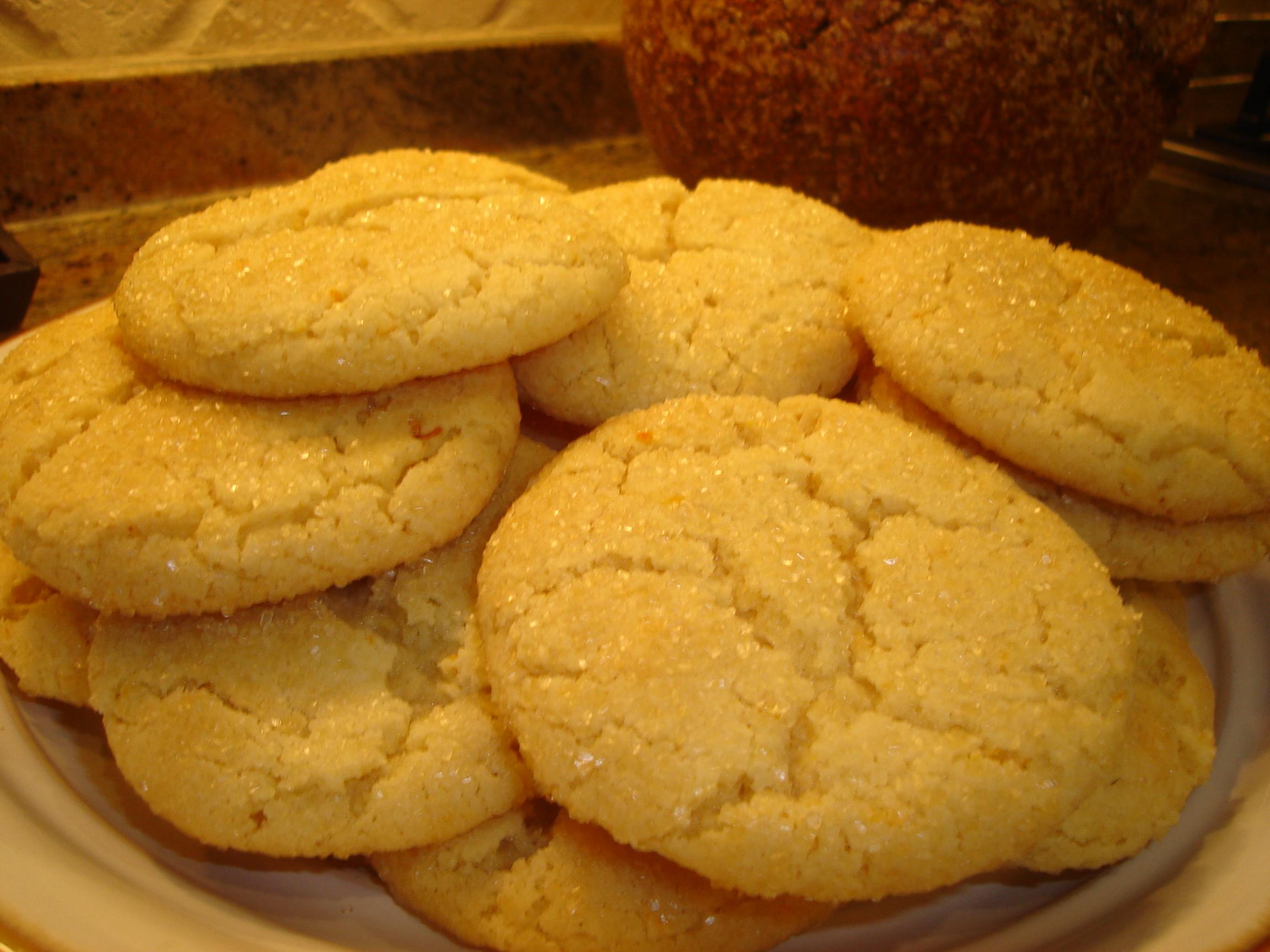 Orange Vanilla Sugar Cookies