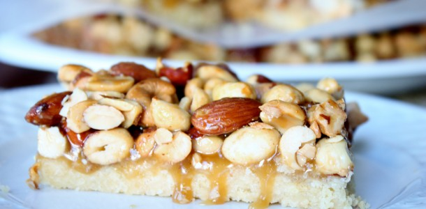 Rustic Nut Bars Recipe — Dishmaps